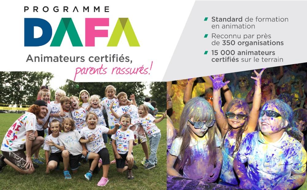 Programmation de certification DAFA pour animateurs