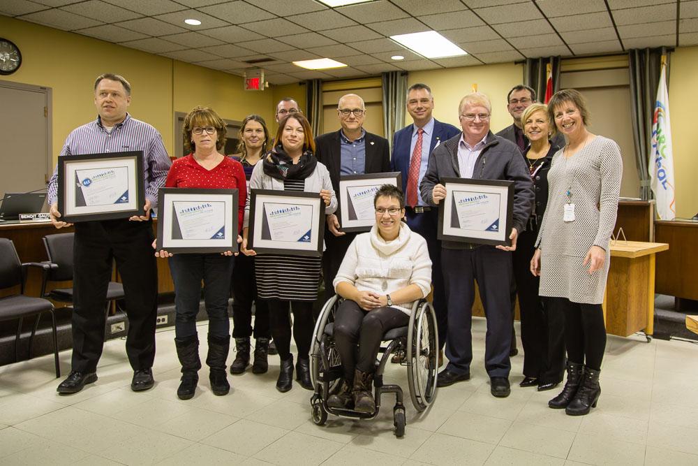 Lauréats 2017 du prix et des mentions spéciales Victoriaville ville inclusive