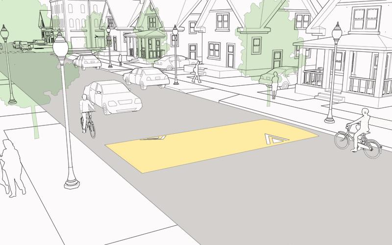 Schéma d'aménagement de chicane