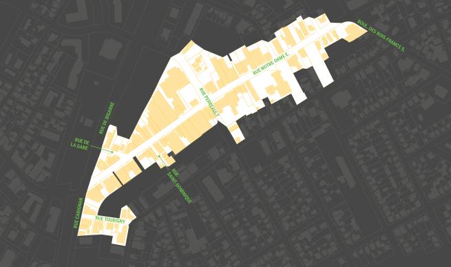 Plan du territoire d'application du programme (aperçu)