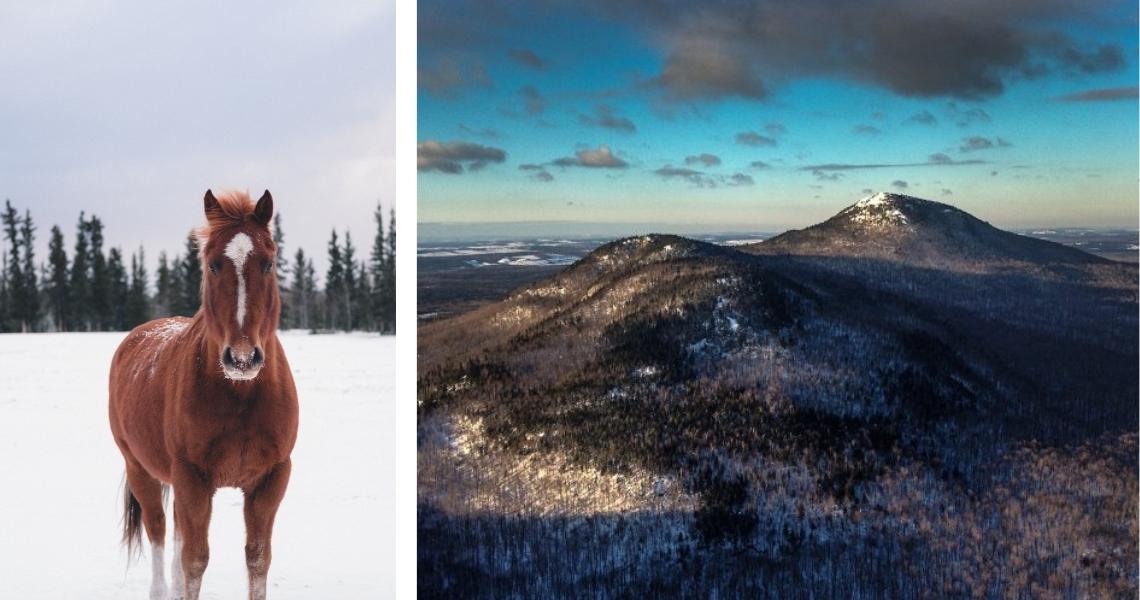 Crédit photos: Kailen Gingell (gauche), Héli-Centre (droite)