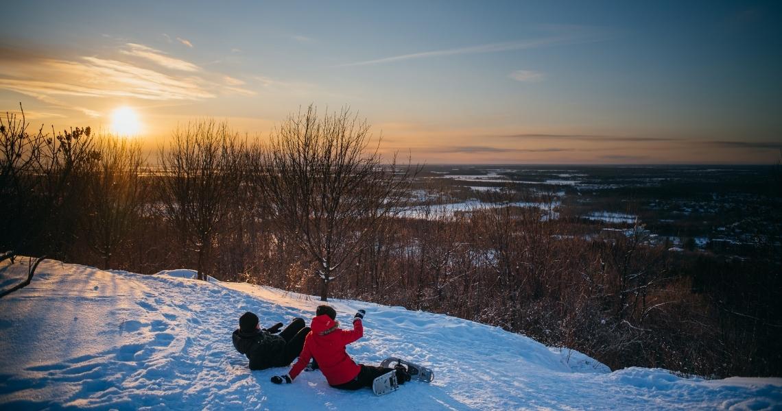 La vue est splendide au sommet du Mont Arthabaska. Crédit photo: Les Maximes