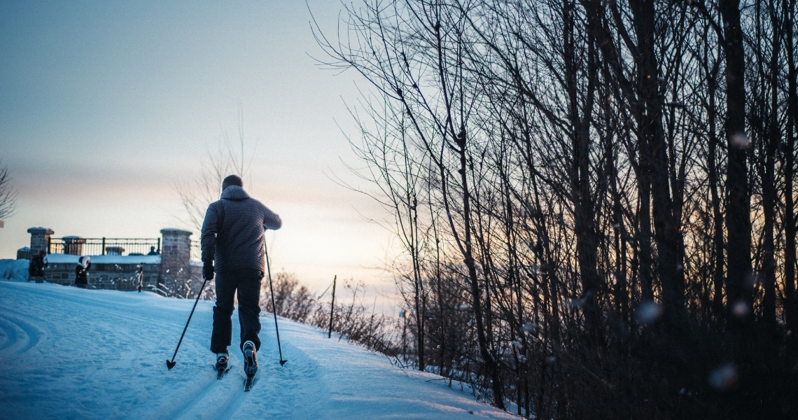 Nos sentiers de ski de fond sont gratuits et ô combien agréables à parcourir. Crédit photo: Les Maximes