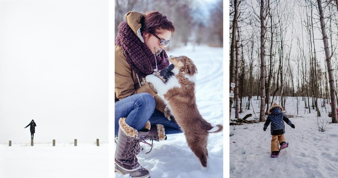 On aime l'hiver dans la région de Victo, venez jouer dehors avec nous! Crédits photos: Les Maximes