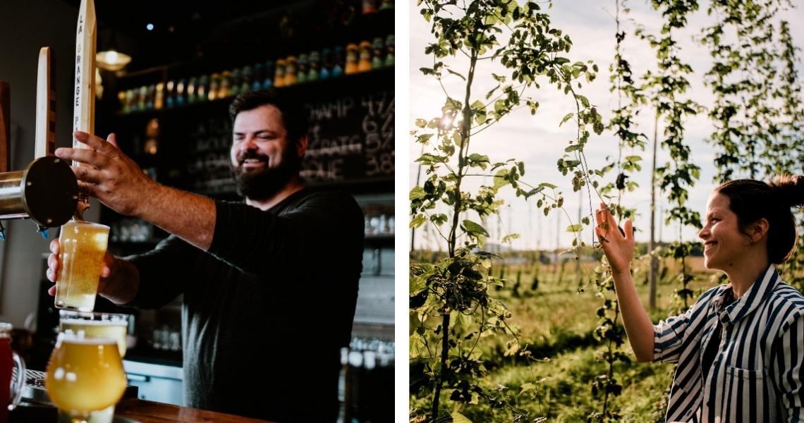 Découvrez les bières 100% locales de La Grange Pardue, dont les ingrédients poussent à même leur ferme brassicole! Crédits photos: Les Maximes.