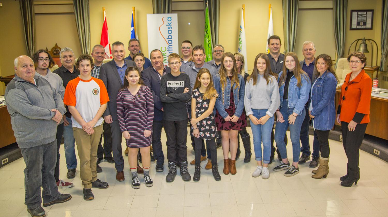 Participants du 2e Conseil jeunesse de la MRC d'Arthabaska