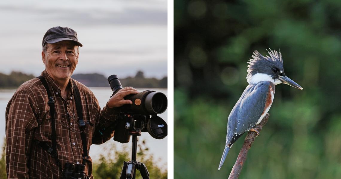 Notre région est réputée pour ses conditions ornithologiques d'une rare qualité! Crédit photos : Les Maximes (gauche), Alain Charette (droite)